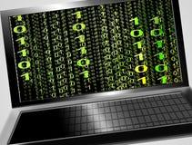 Zwarte laptop stock illustratie