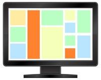 Zwarte LCD monitor Stock Afbeeldingen