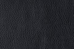 Zwarte leertextuur Stock Foto