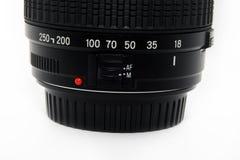 Zwarte lens Stock Foto