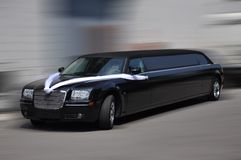 Zwarte limousine stock fotografie