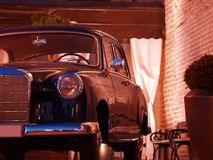 Zwarte limousine Royalty-vrije Stock Foto's