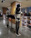 Zwarte lingeriereeks en manufacturenhandel Stock Fotografie