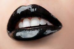 Zwarte lippen Stock Afbeeldingen