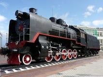 Zwarte locomotief Stock Afbeeldingen