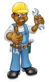 Zwarte Loodgieter Mechanic of Manusje van alles Stock Fotografie