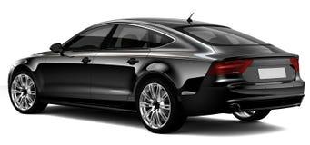 Zwarte luxeauto Royalty-vrije Stock Foto