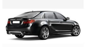 Zwarte luxeauto - Achterhoek Stock Afbeeldingen