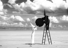 Zwarte maan royalty-vrije stock foto