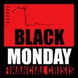 Zwarte Maandag Stock Foto