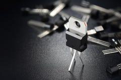 Zwarte machtstransistors royalty-vrije stock afbeeldingen