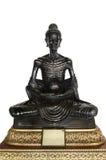 Zwarte magere het standbeeldhouding van Boedha Stock Afbeeldingen