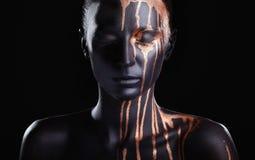 Zwarte make-up stock foto's