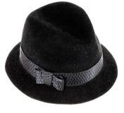 Zwarte man hoed Stock Fotografie