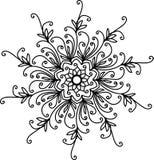 Zwarte mandala met spiralen vector illustratie