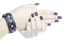 Zwarte manicure Royalty-vrije Stock Foto