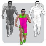 Zwarte mannelijke sprinter Stock Foto's