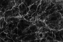 Zwarte marmer gevormde (natuurlijke patronen) textuurachtergrond Stock Foto's