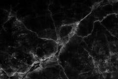 Zwarte marmeren die textuur in natuurlijk voor achtergrond en ontwerp wordt gevormd royalty-vrije stock afbeelding