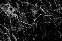 Zwarte marmeren die textuur in natuurlijk voor achtergrond en ontwerp wordt gevormd royalty-vrije stock foto's