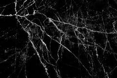 Zwarte marmeren textuur met de patronenachtergrond van de aard witte lijn en exemplaarruimte stock afbeeldingen