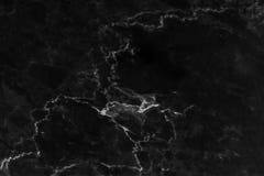 Zwarte marmeren textuurachtergrond, abstracte marmeren textuur natuurlijke patronen Stock Fotografie