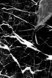 Zwarte marmeren textuurachtergrond, Gedetailleerd echt marmer van aard Stock Afbeelding