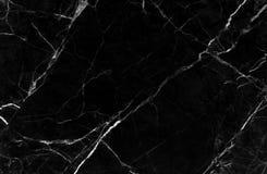 Zwarte marmeren textuurachtergrond, Gedetailleerd echt marmer van aard Royalty-vrije Stock Afbeeldingen
