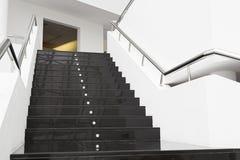 Zwarte marmeren treden Stock Fotografie