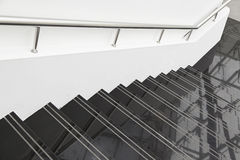 Zwarte marmeren treden Stock Foto