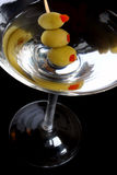Zwarte Martini Royalty-vrije Stock Afbeeldingen