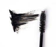Zwarte mascara Royalty-vrije Stock Afbeeldingen