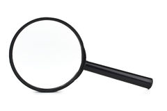 Zwarte meer magnifier Stock Afbeelding