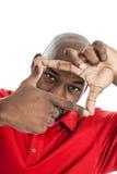 Zwarte Mens die Perspectief krijgen Royalty-vrije Stock Fotografie