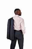 Zwarte mens van de rug. Royalty-vrije Stock Afbeeldingen
