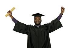 Zwarte Mensengediplomeerde stock fotografie