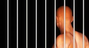 Zwarte mensengevangenis Stock Fotografie