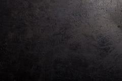 Zwarte metaalachtergrond De oppervlakte van de pan aan de oven stock afbeeldingen