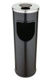 Zwarte metaalvuilnisbak met asbakje Royalty-vrije Stock Afbeelding