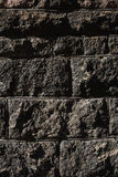 Zwarte metselwerkachtergrond Stock Fotografie