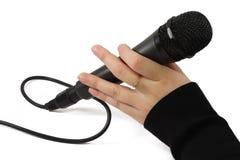 zwarte mic Stock Foto's
