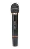 Zwarte microfoon Royalty-vrije Stock Afbeeldingen