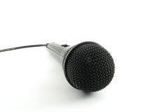 Zwarte microfoon Stock Afbeeldingen