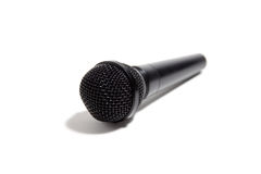 Zwarte Microfoon Royalty-vrije Stock Afbeelding