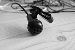 Zwarte microfoon Royalty-vrije Stock Foto's