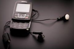 Zwarte mobiele telefoon Royalty-vrije Stock Afbeeldingen