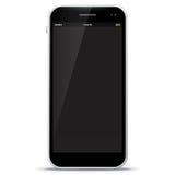 Zwarte Mobiele Telefoon Vectorillustratie Stock Fotografie