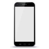 Zwarte Mobiele Telefoon Vectorillustratie Royalty-vrije Stock Afbeeldingen