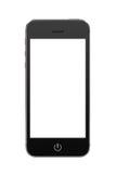 Zwarte moderne mobiele slimme telefoon met het lege scherm