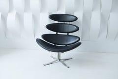 Zwarte moderne stoel Stock Fotografie